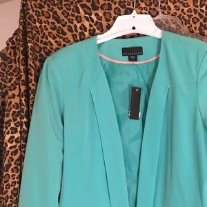 Attention jacket in aqua